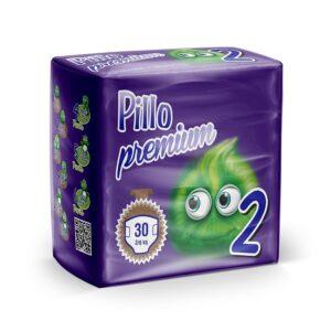2 - Pannolini Pillo Mini Taglia 2 (3-6 kg) – Confezione da 30 pannolini