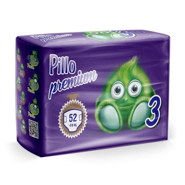 3 - Pannolini Pillo Midi Taglia 3 (4-9 kg) – Confezione da 52 pannolini