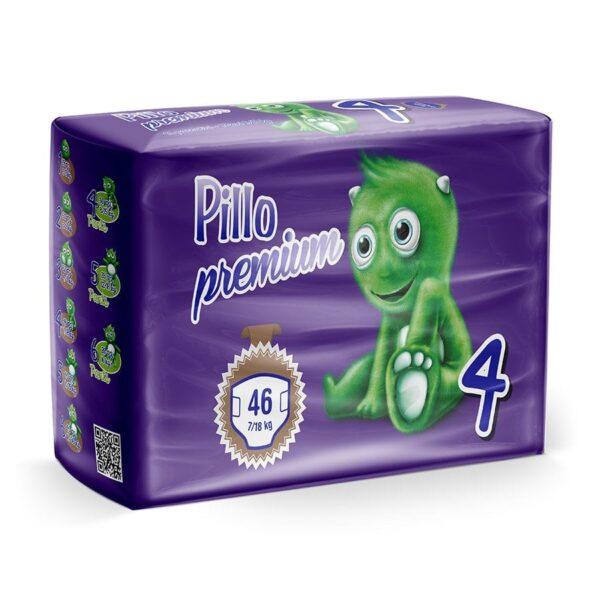 4 - Pannolini Pillo Maxi Taglia 4 (7-18 kg) – Confezione da 46 pannolini