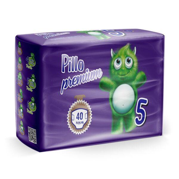 5 - Pannolini Pillo Junior Taglia 5 (11-25 kg) – Confezione da 40 pannolini
