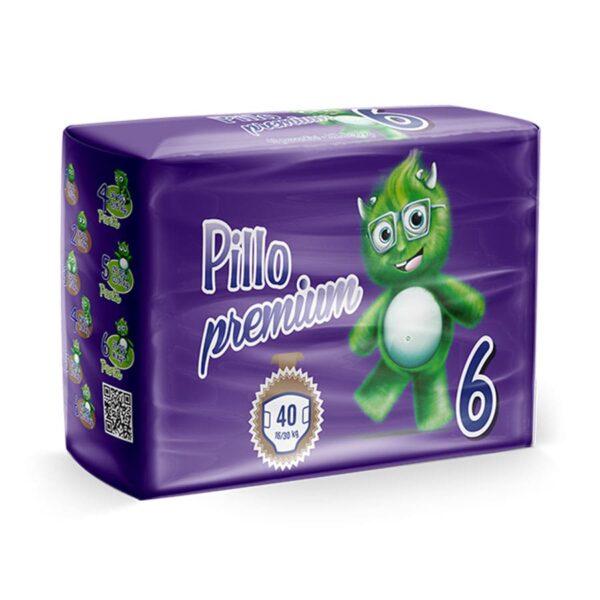 6 - Pannolini Pillo Extra Large Taglia 6 (16-30 kg) – Confezione da 40 pannolini