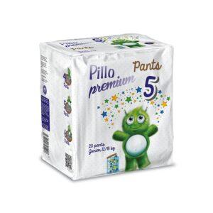 PANTS Pillo Junior Taglia 5 (12-18 kg) – Confezione da 20 pannolini a mutandina