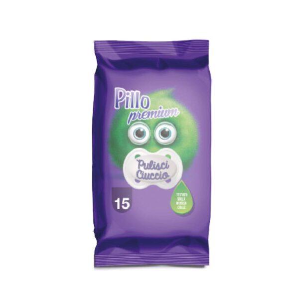 Salviettine Pillo Pulisci Ciuccio – Confezione pocket da 15 salviettine